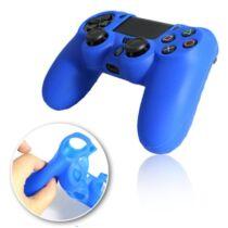 PS4 controller védő, szilikon, kék színű