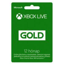 Microsoft Xbox Live Gold 12 Month Membership - 12 hónap