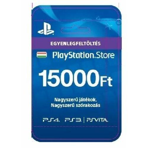 PSN - 15000Ft-os Feltöltő kártya PlayStation Network szolgáltatáshoz