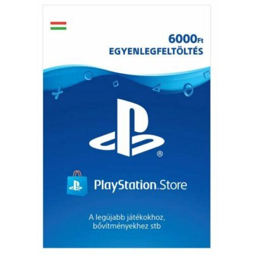PSN - 6000Ft-os Feltöltő kártya PlayStation Network szolgáltatáshoz - digitális