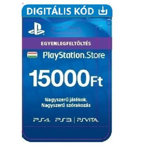 PSN - 15000Ft-os Feltöltő kártya PlayStation Network szolgáltatáshoz - digitális