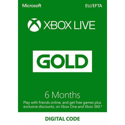 Microsoft Xbox Live Gold 6 Month Membership - 6 hónap - digitális