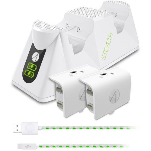 STEALTH ikertöltő dokkoló + akkumulátorcsomagok - fehér - Xbox Series