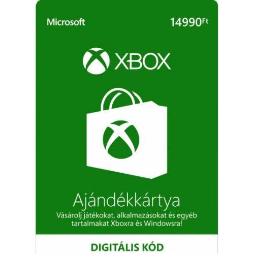 14990 forintos Microsoft XBOX ajándékkártya - digitális kód