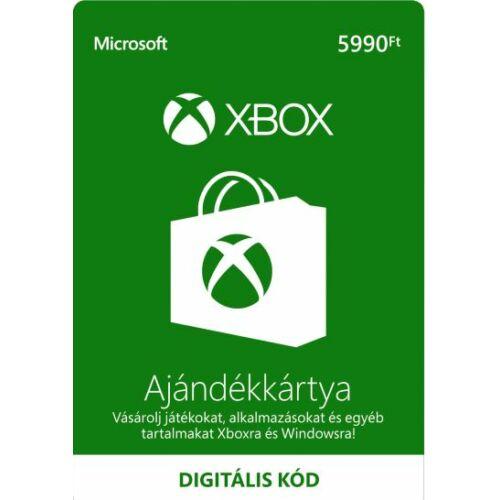 5990 forintos Microsoft XBOX ajándékkártya - digitális kód