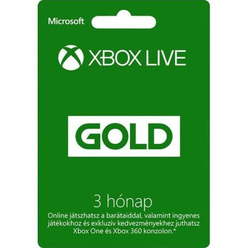 Microsoft Xbox Live Gold 3 Month Membership - 3 hónap