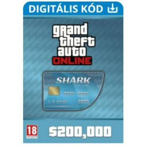 Grand Theft Auto (GTA V) Online: Tiger Shark Card - 200.000