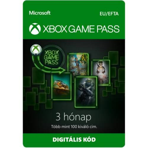 Microsoft XBOX Game Pass - 3 hónap - digitális