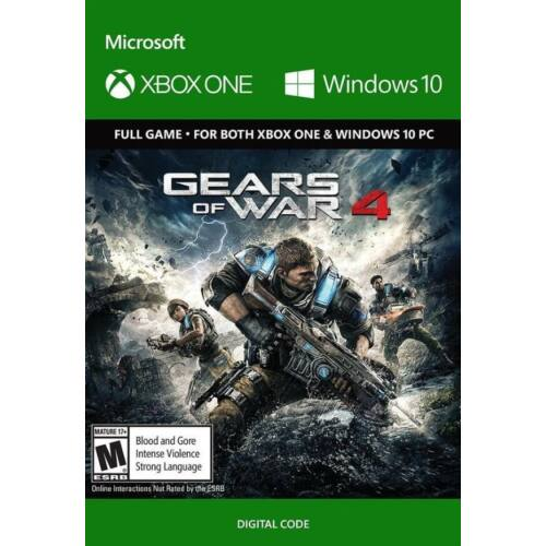 Gears of War 4 - Xbox One + Win10 - elektronikus licence